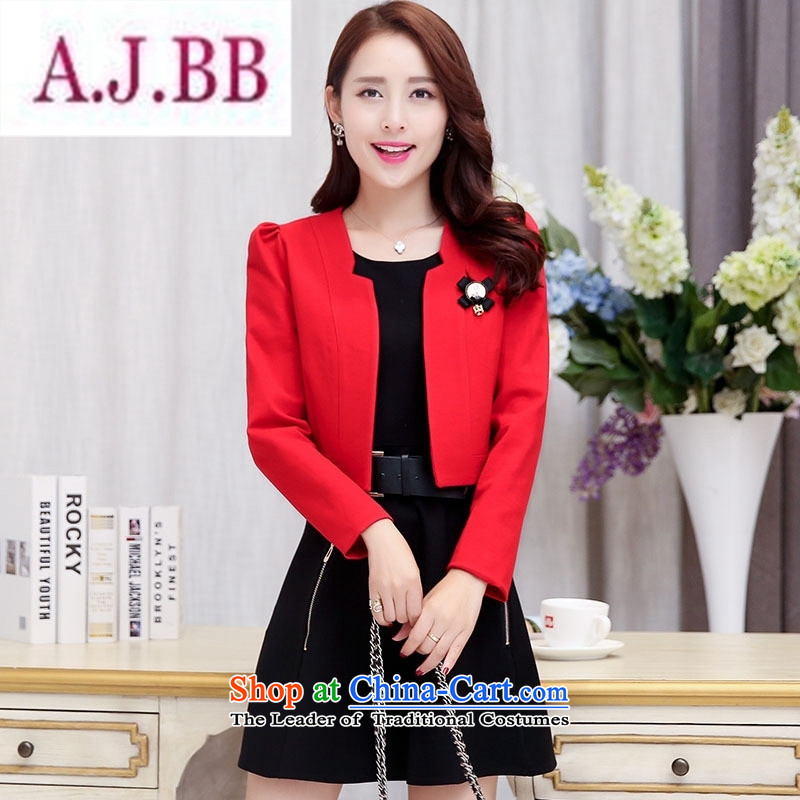 Ms Rebecca Pun stylish shops 2015 Fall/Winter Collections of new products Korean women's dresses BAMS9039 two kits with waistband dragon red and black聽XXL,A.J.BB,,, shopping on the Internet