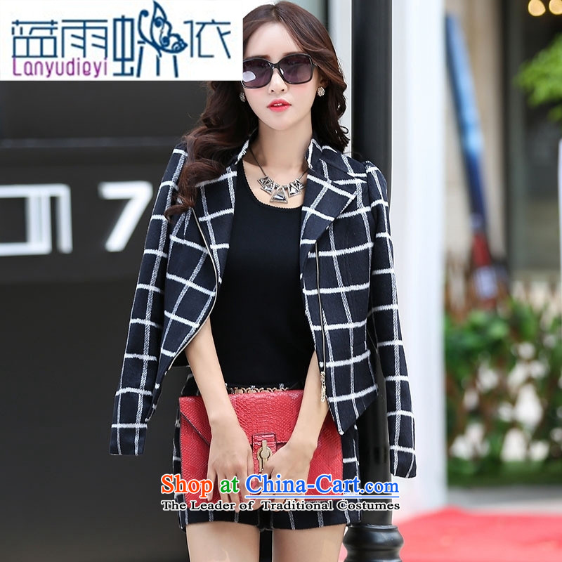 Ya-ting shop 2015 winter clothing new products Korean women's stylish pants BSYG6160 two kits of Lung-gray燲L