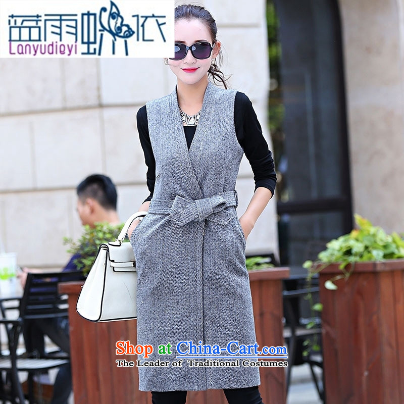 Ya-ting shop 2015 winter clothing new products Korean female vest jacket in two kits BSYG6163 dragon light coffee?XXL