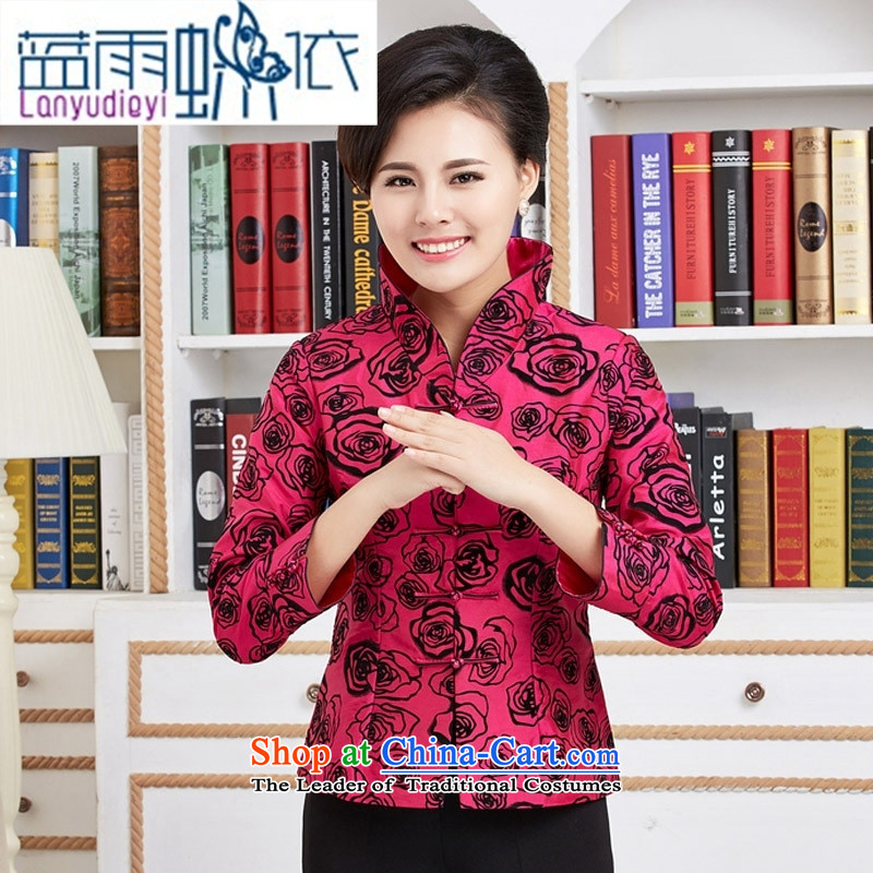 Ya-ting shop in older women and mothers Ms. replacing Tang blouses wedding-dress birthday with Chinese improved retro jacket red燲XXL