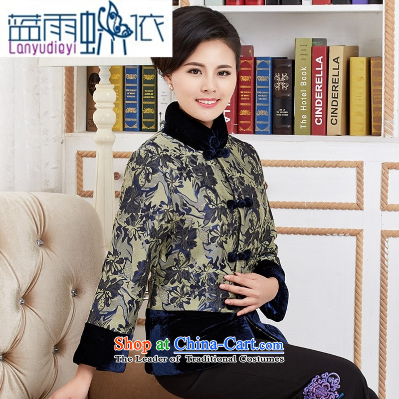 Ya-ting Tang dynasty shop fashionable mother coat in Tang dynasty blue mother coat older聽L