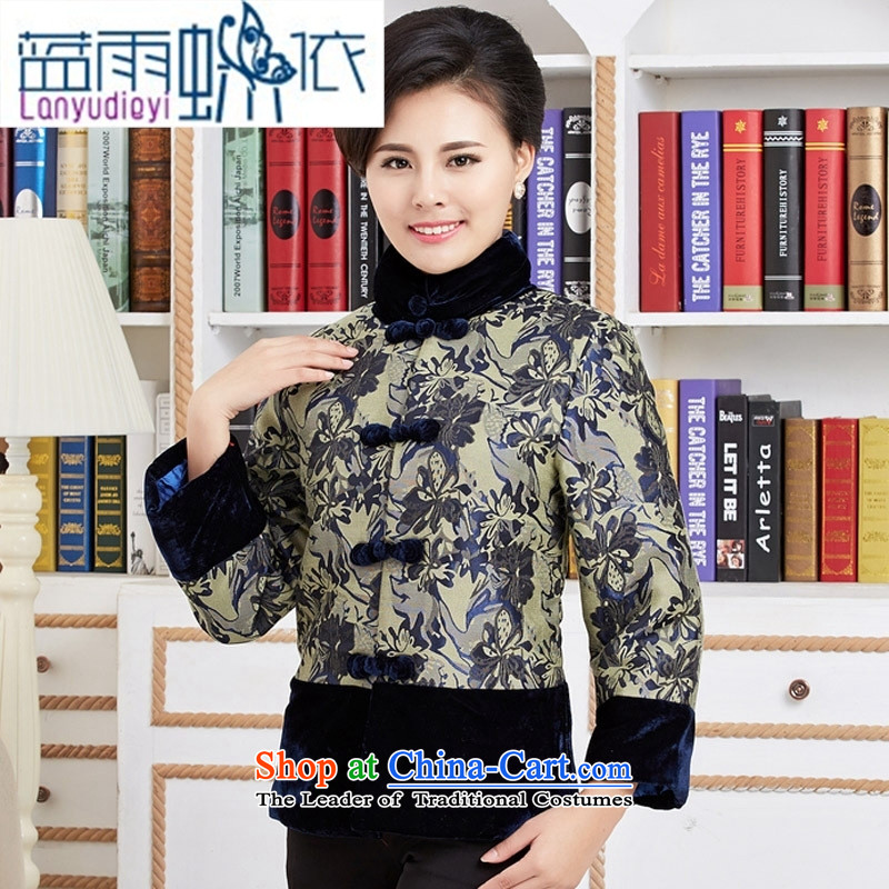Ya-ting Tang dynasty shop fashionable mother coat in Tang Dynasty older ãþòâ blue , L, a mother rain butterfly according to , , , shopping on the Internet