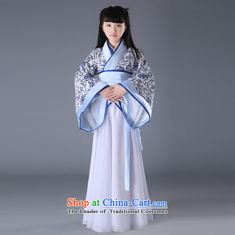 Time Syrian porcelain improved female Han-child girls costume female you can multi-select attributes by using single handed over for the establishment of a formal track civil deep Han Dynasty Yi Xia Algeria skirt will?150CM