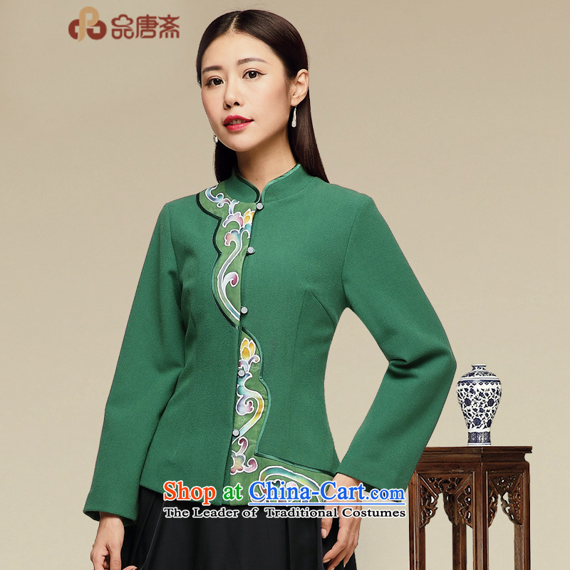 No. of Ramadan ethnic Tang Blouses Tang dynasty improved long-sleeved qipao map color�L