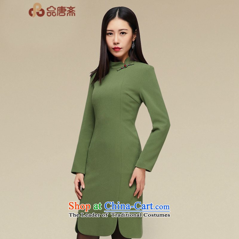 No. of Ramadan improved qipao Tang dresses 2015 new autumn and winter in long retro style qipao and long-sleeved cheongsam dress map color�XL