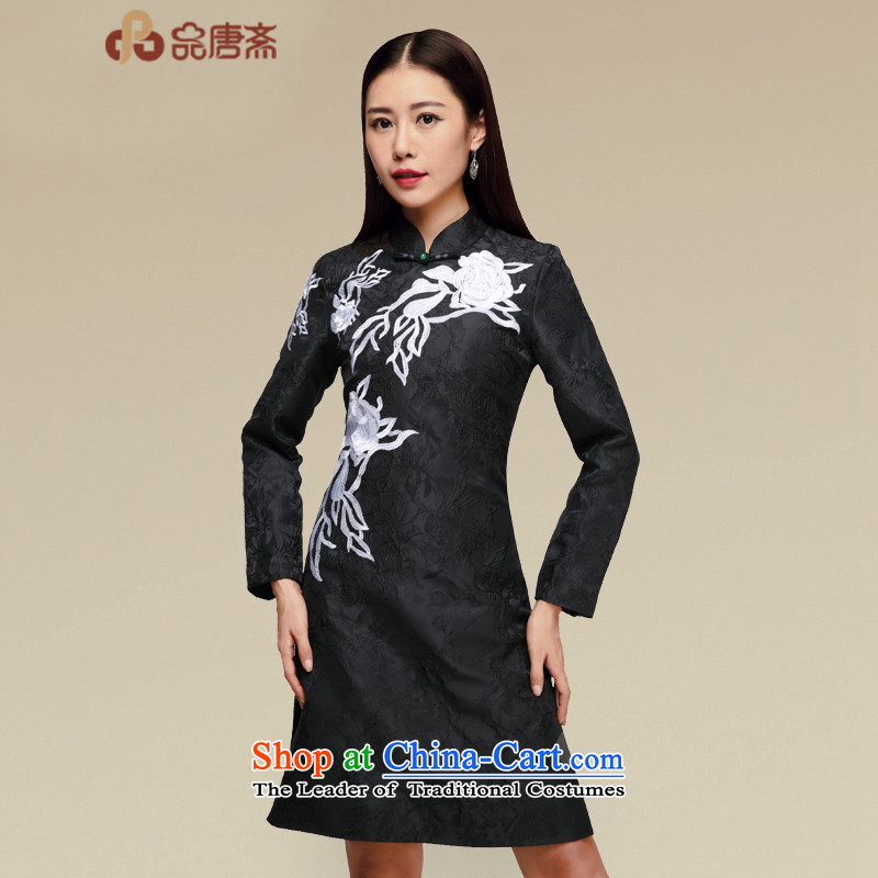 No. of Ramadan long-sleeved cheongsam dress Tang 2015 new products fall, improved cheongsam dress map color?M