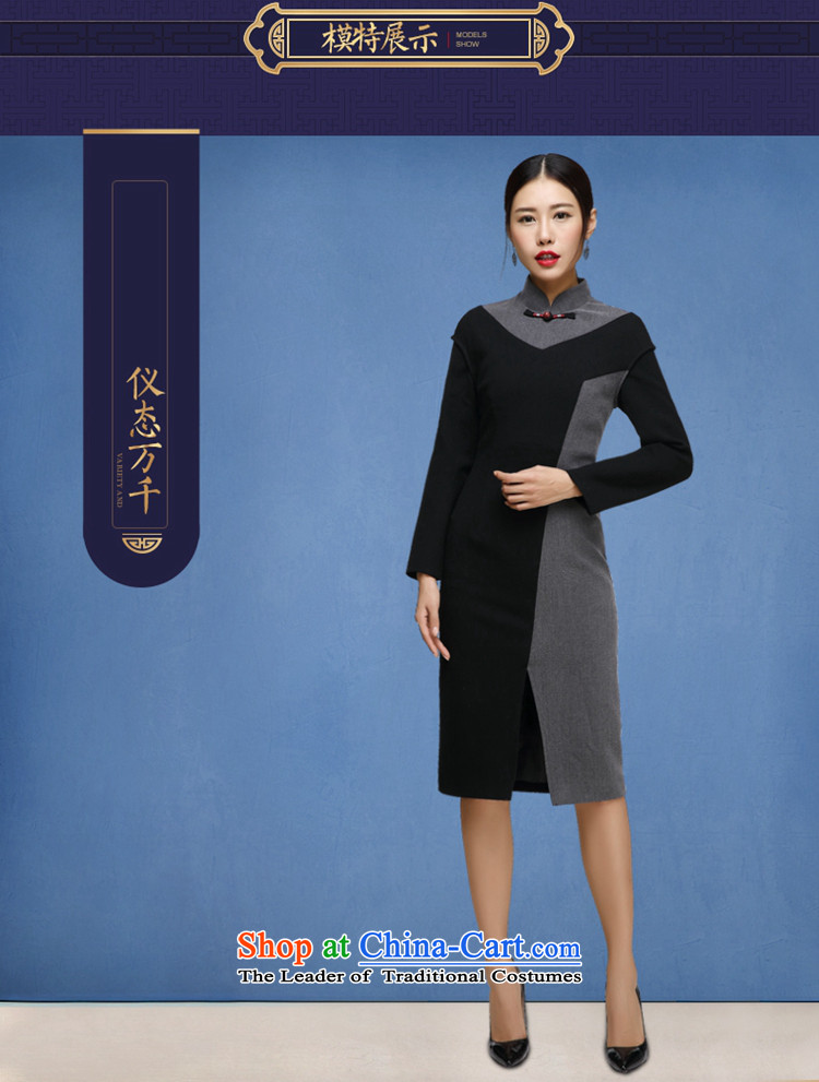 No. of autumn and winter qipao Tang Ramadan 2015 Ms. new long-sleeved retro cheongsam dress map colorM brand, prices, picture platters! The elections are supplied in the national character of distribution, so action, buy now enjoy more preferential! As soon as possible.