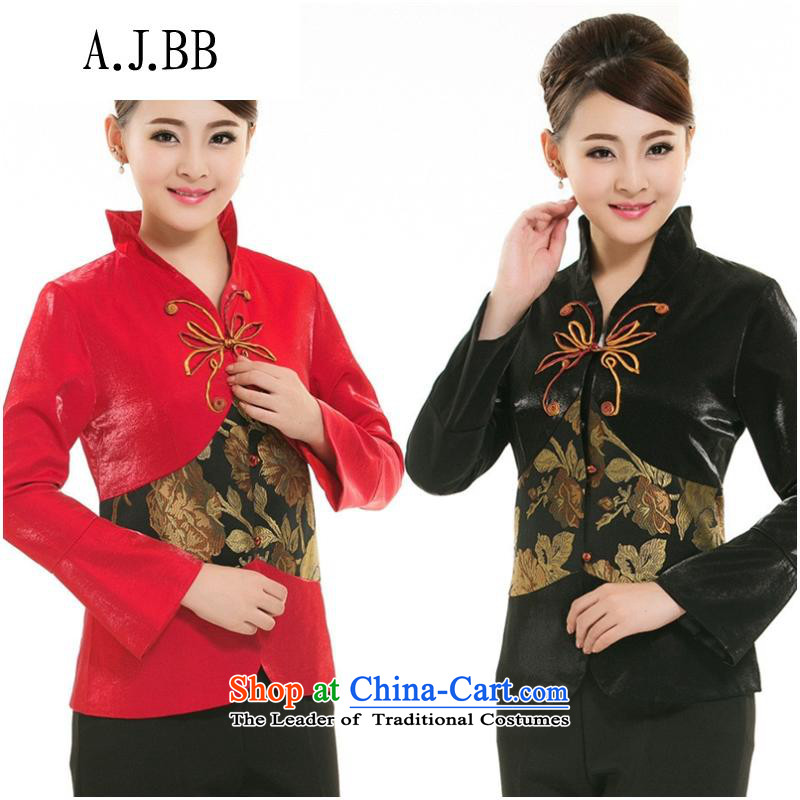 _The hotel is close to shops of autumn and winter clothing with tea art Tang dynasty restaurant waiters Ms. long-sleeved clothing燲XXL red