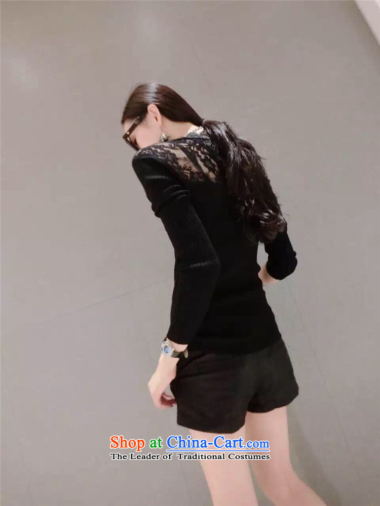 Secretary for Korean clothing shops involved * WOMEN FALL 2015 new products v-neck long-sleeved small fluoroscopy lace spell checker shirt Knitted Shirt black are code pictures, prices, brand platters! The elections are supplied in the national character of distribution, so action, buy now enjoy more preferential! As soon as possible.