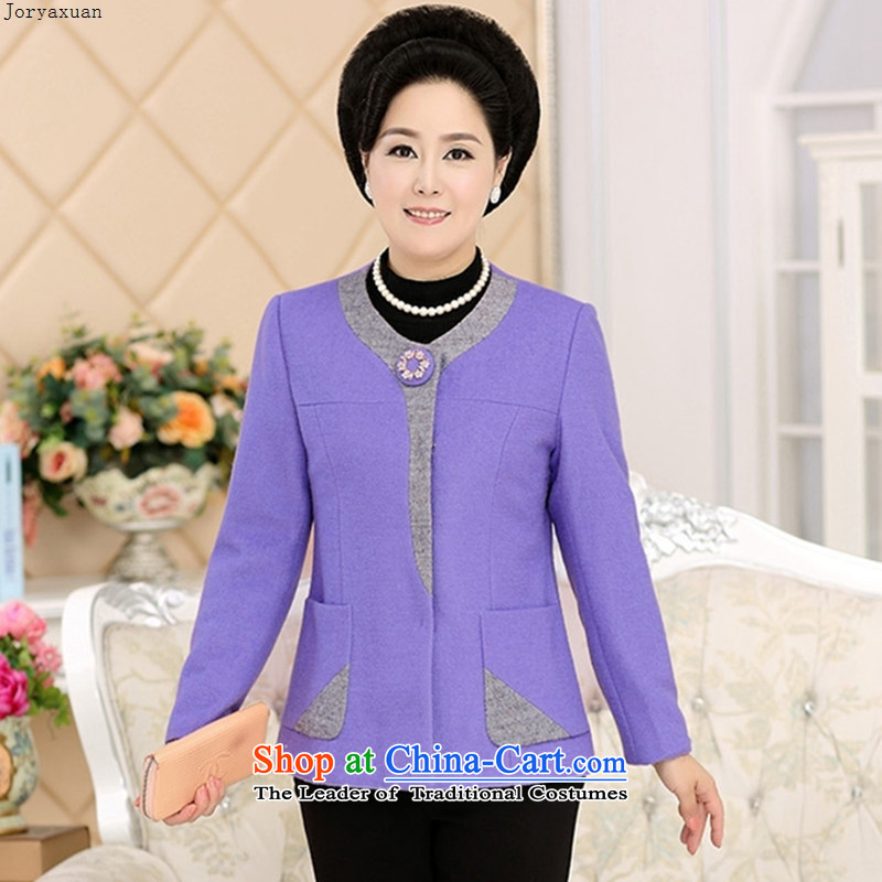 New clothes soft web load mother coat short of gross? in the number of older women who decorated in autumn and winter wool coat thickness a purple�XL
