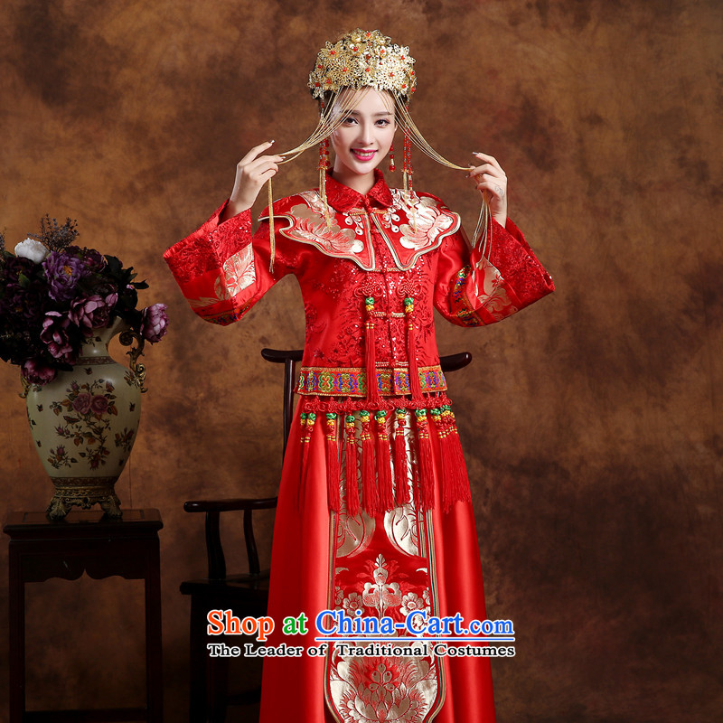 In accordance with the China-soo, Love Wo Service Bridal Chinese wedding costume retro qipao bows services services use skirt-soo-Hi wo service wedding dress the traditional winter longfeng use AFC Champions Bangladesh previous Popes are placed Bong-Weddi