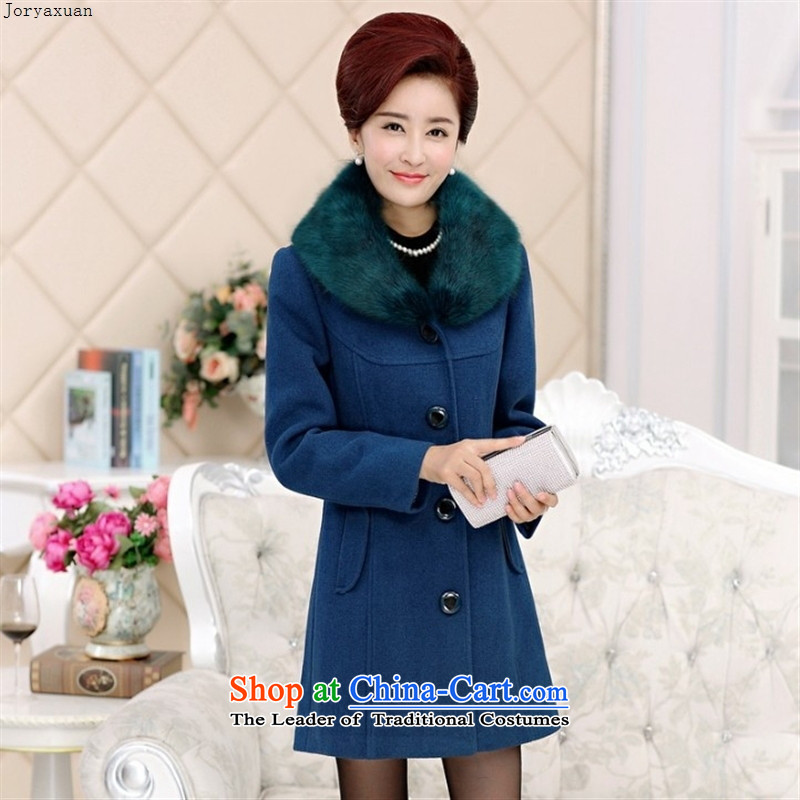 Soft clothes new web mother woolen coats women in so long in the autumn and winter coats nagymaros for older a wine red燣