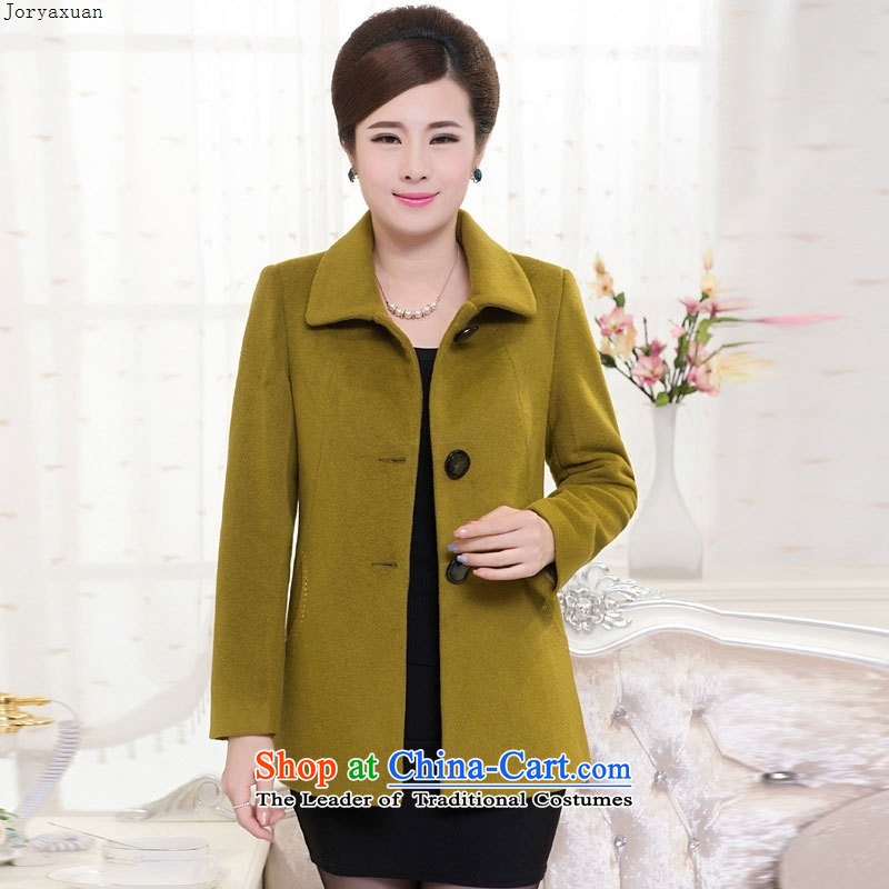 Web soft trappings of older women's woolen coat 40-50-year-old middle-aged moms with short of autumn and winter new Fleece Jacket Emerald�L?