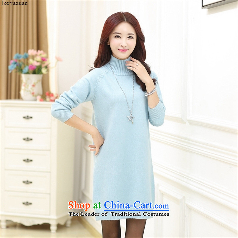 Web soft clothes in 2015 new Older Women Knitted Shirt Fall/Winter Collections long-sleeved relaxd stylish large load mother forming the Netherlands White 110