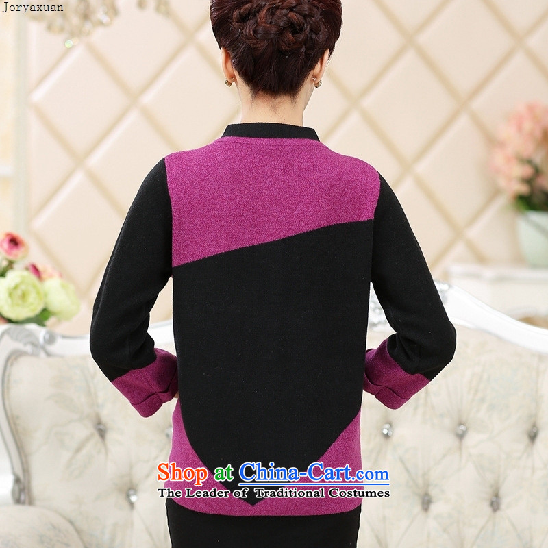 Web soft trappings of older women Fall/Winter Collections gross jacket mother load? knitting cardigan long-sleeved sweater older persons Thick Purple 110 Cheuk-yan xuan ya (joryaxuan) , , , shopping on the Internet