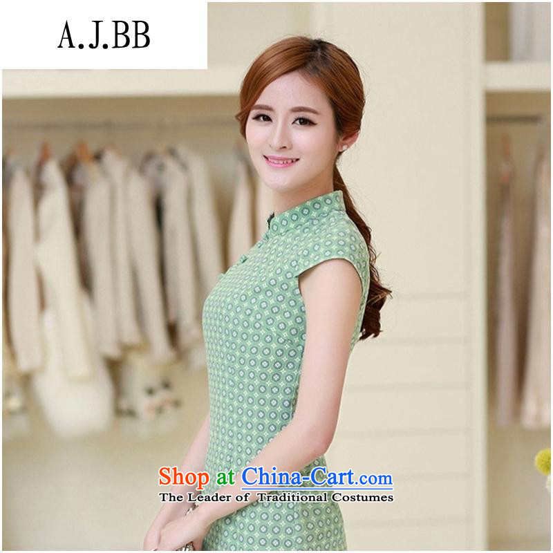 The Secretary for Health related shops * Short-sleeved qipao China wind retro linen arts circle of the forklift truck cheongsam dress) Mr Ronald L PINK