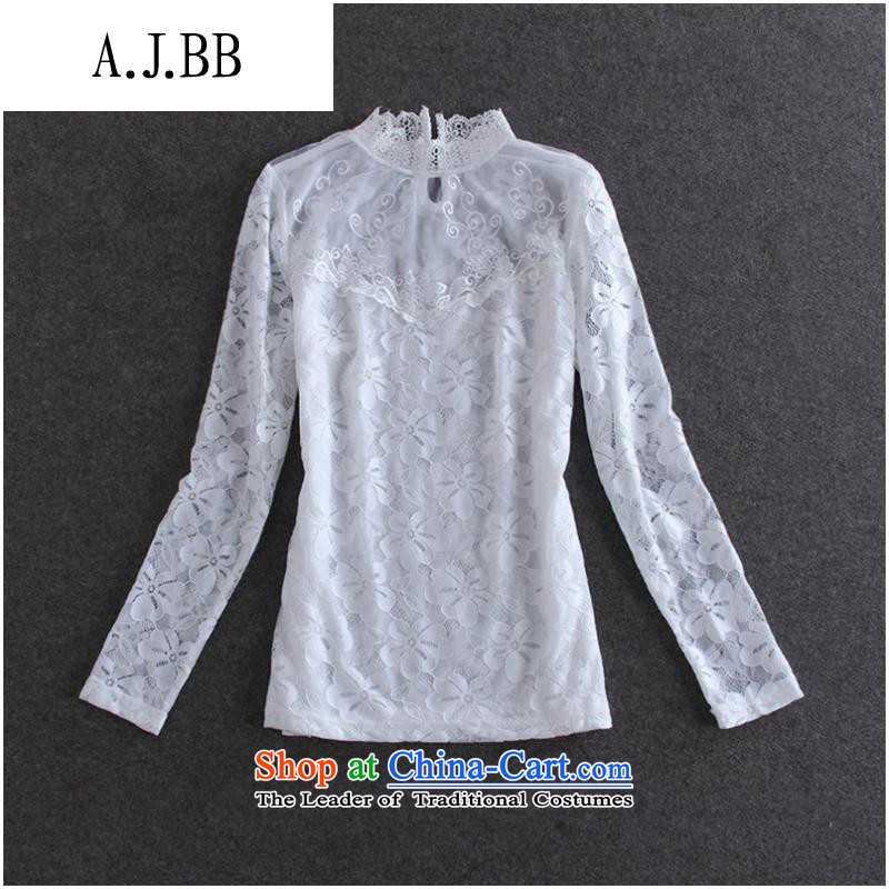The Secretary for Health related shops _50A607 European site autumn new for women lace water-soluble solid black shirt spend燤