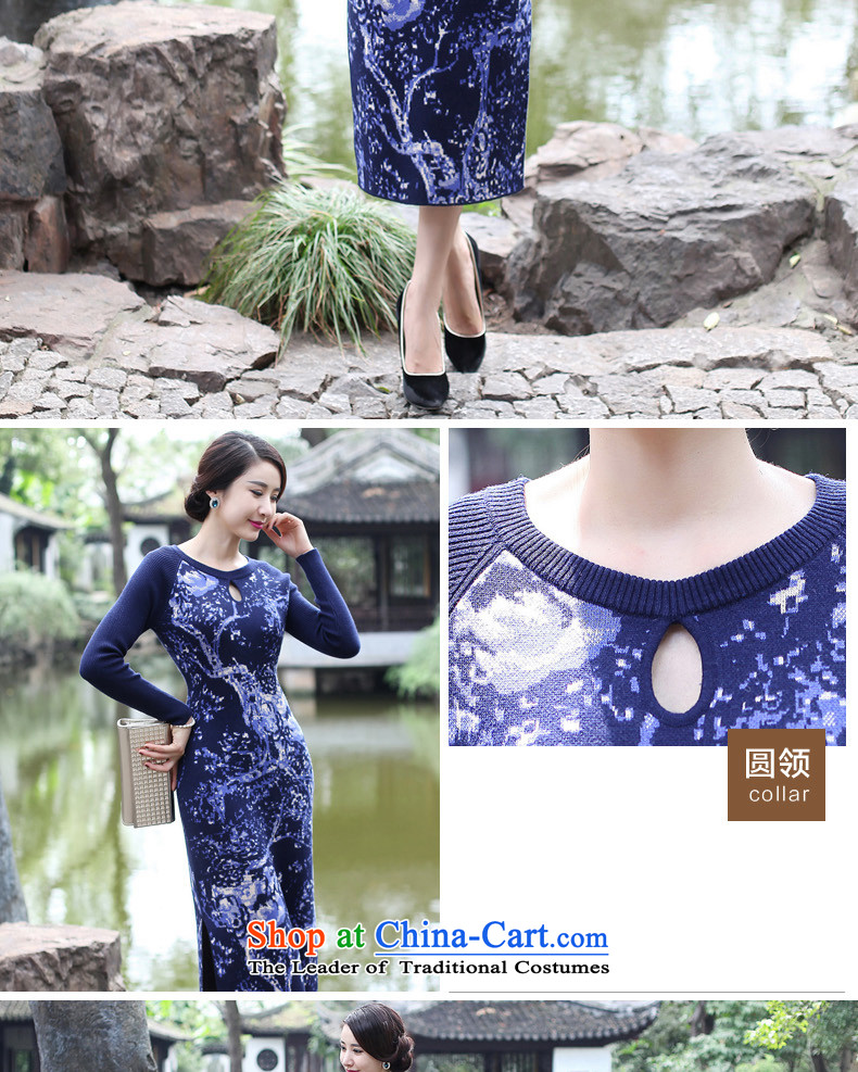 The cheongsam dress 2015 Fall/Winter Collections new improved long-sleeved female daily stylish woolen knitted long antique dresses聽2XL Photo Black, prices, brand platters! The elections are supplied in the national character of distribution, so action, buy now enjoy more preferential! As soon as possible.