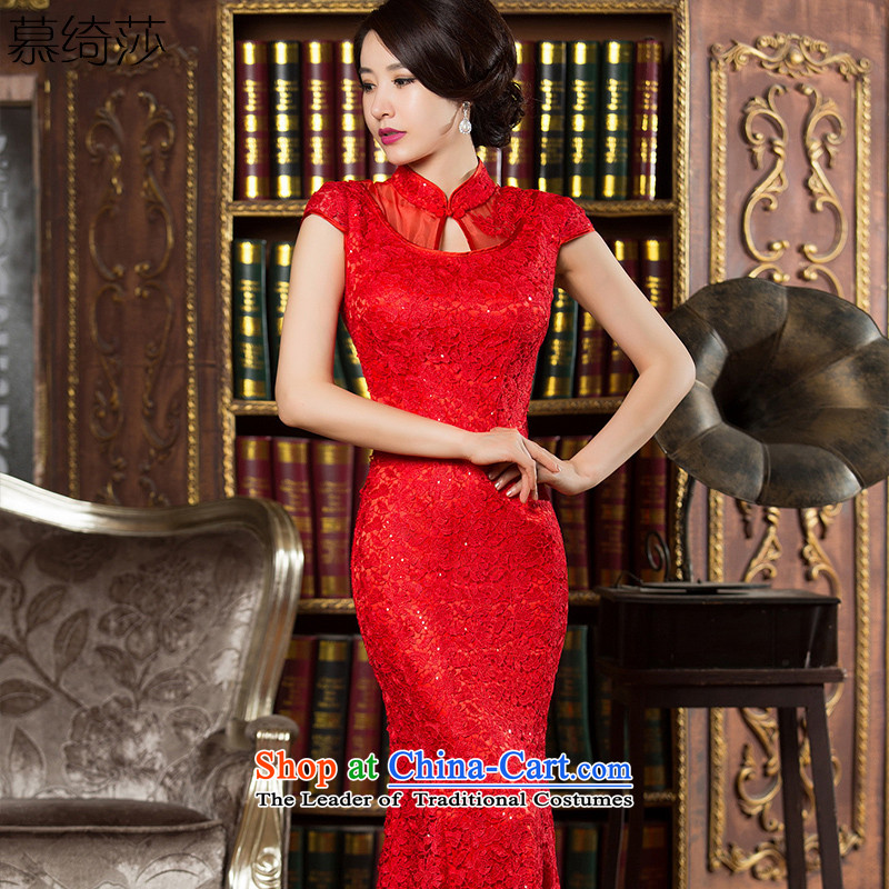The New Millennium Vision�15 Elizabeth Yee-improved qipao fall inside the reconstructed water-soluble lace cheongsam dress long bride dress Chinese skirts long skirt燞Y901 CROWSFOOT燫ED燤