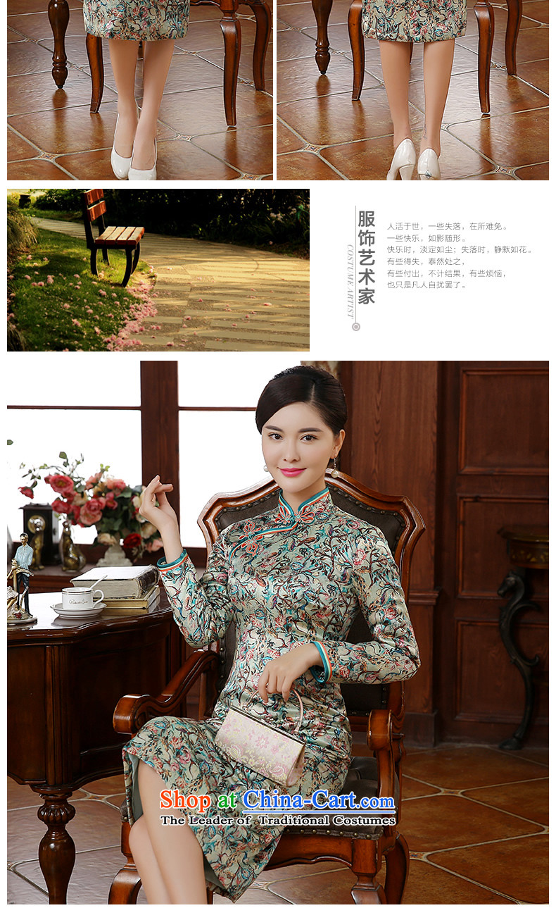 [Sau Kwun Tong] twist of a floral 2015 autumn and winter new upscale silk stylish saika qipao QC51005 folder suit聽XL Photo, prices, brand platters! The elections are supplied in the national character of distribution, so action, buy now enjoy more preferential! As soon as possible.
