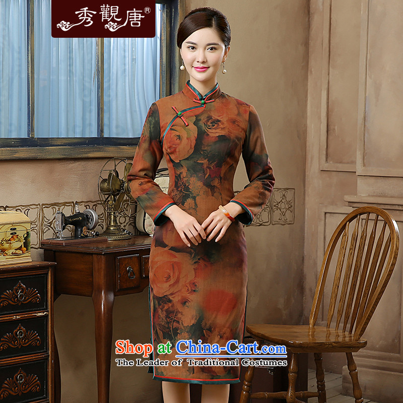[Sau Kwun Tong, Mr Chan 2015] autumn and winter new upscale silk flowers in the stamp of Qipao QC51002 SUIT?XL
