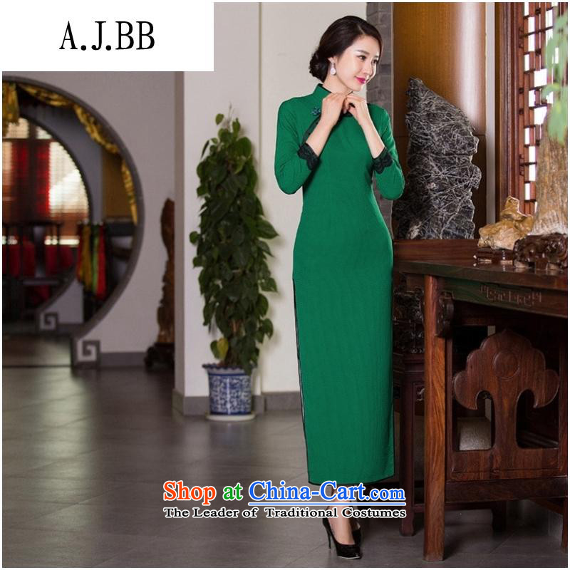 And involved new *2015 shops fall and winter cheongsam lace retro style qipao Sau San video thin dresses improved cheongsam dress figure?M