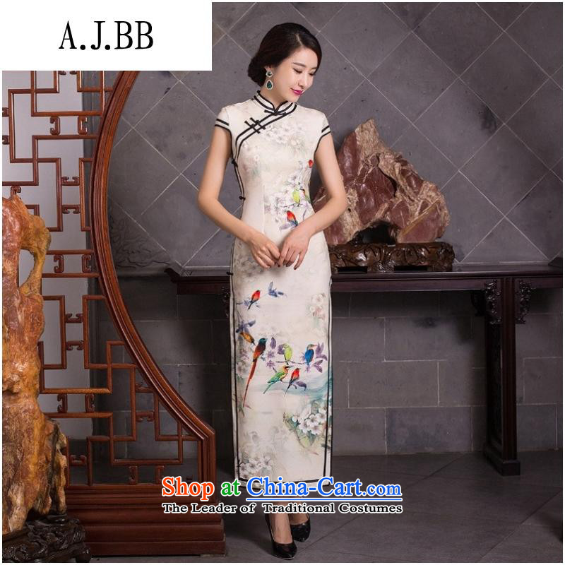 The Secretary for Health related shops _ 2015 new qipao autumn and winter Couture fashion antique dresses jacquard temperament improved long dresses Sau San figure聽L