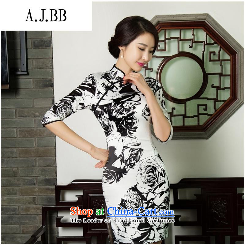 * The new clothes shops and involved) cheongsam dress retro Sau San autumn and winter, Tang dynasty qipao cheongsam dress?11019( double) M