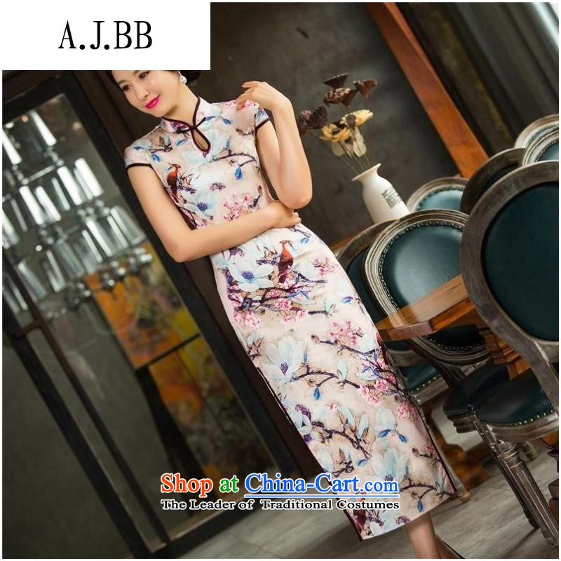 Secretary for autumn and winter clothing shops involved _ New cheongsam dress long double cheongsam dress sleeveless qipao Template Characteristics 10013 XXL