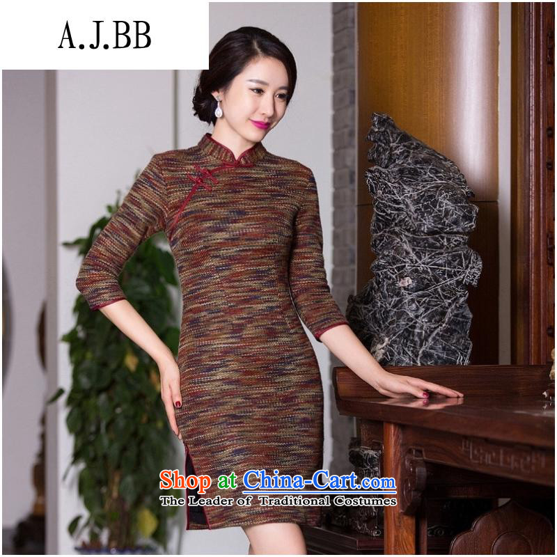 The Secretary for Health related shops _ Gross?�15 new qipao autumn and winter retro Sau San Tong boxed in classic cuff thickened daily cheongsam picture color燲XL