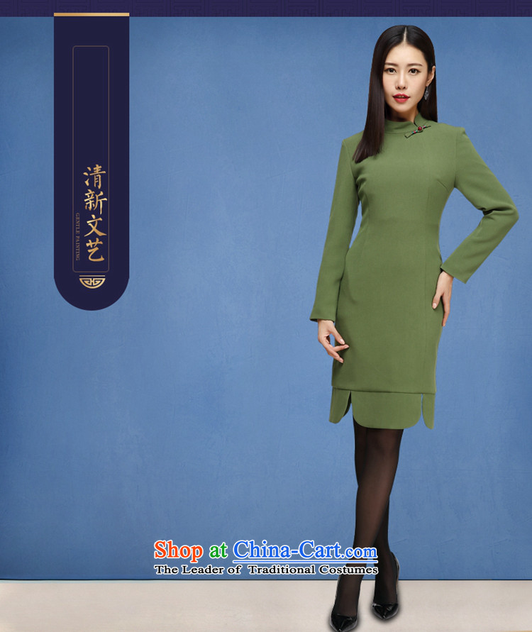 No. of Ramadan improved qipao Tang dresses 2015 new autumn and winter in long retro style qipao and long-sleeved cheongsam dress picture colorpictures, prices, XL brand platters! The elections are supplied in the national character of distribution, so action, buy now enjoy more preferential! As soon as possible.