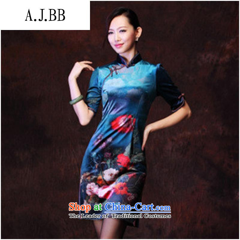 Secretary for autumn and winter clothing *201 involving new female Korean Stamp Stylish retro improvements lint-free in the ordinary course of Qipao cuff figure聽L,A.J.BB,,, shopping on the Internet