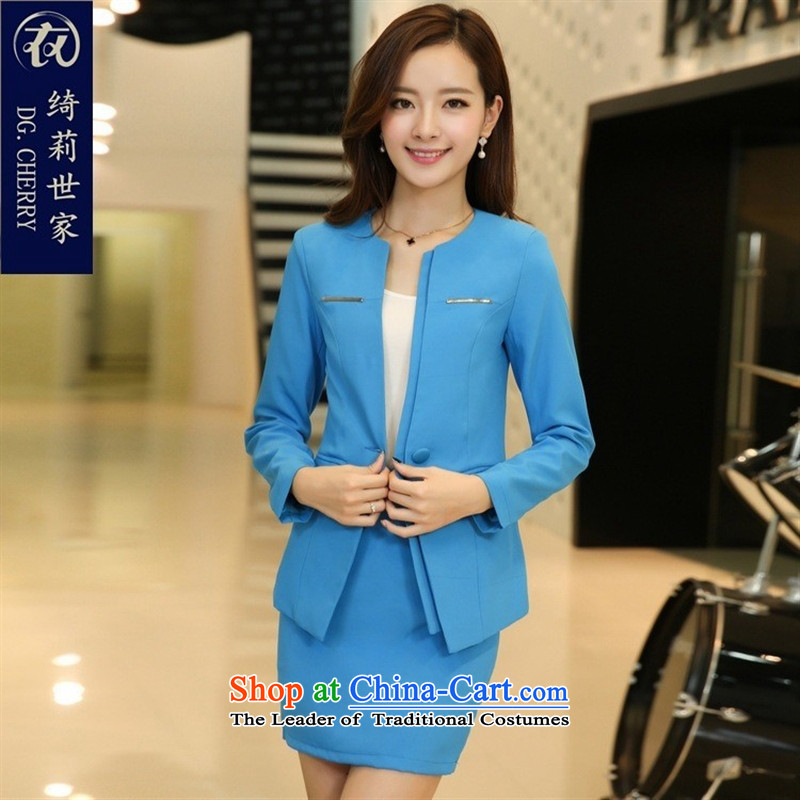 September clothes shops * long-sleeved blouses and occupational OL temperament?autumn 2015 Sau San female suits kit skirt female lounge suites?YM3381 black?L