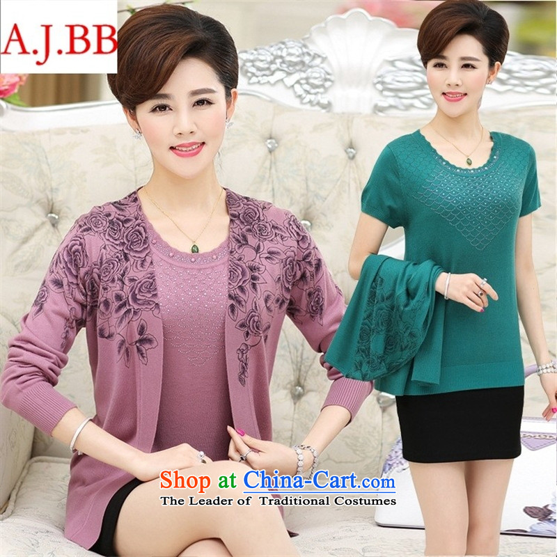 September _2015 clothes shops fall inside new products with large number of middle-aged moms clothes stamp two kits long-sleeved Knitted Shirt female skin toner聽110