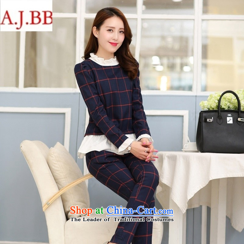 September clothes shops _ autumn new for women lace stitching round-neck collar long-sleeved stylish latticed two kits nursing work out Feeding The Green Grid聽M