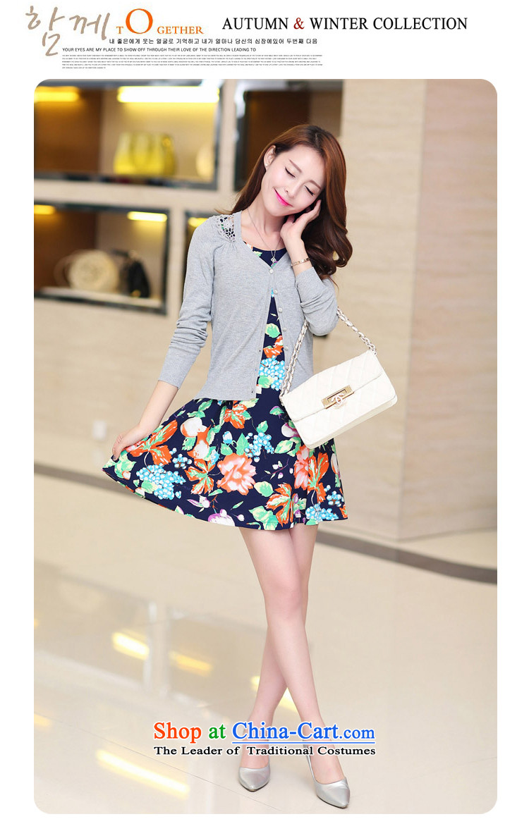 September clothes shops *2015 autumn new for women Korean stylish single row tie long-sleeved shirt like Susy Nagle stamp short skirt nursing two kits blue-white聽XL Photo, prices, brand platters! The elections are supplied in the national character of distribution, so action, buy now enjoy more preferential! As soon as possible.