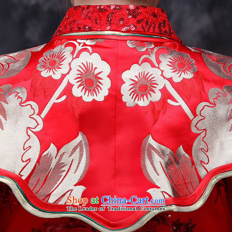 Sau Wo Service service bridal dresses Sau Wo Chinese wedding dress 2015 new red bows wedding dress retro-soo Kimono clothes set of qipao red M,oco,,, shopping on the Internet