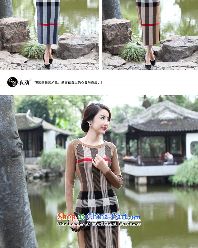 2015 Fall/Winter Collections cheongsam dress the new improved stylish girl long skirt daily retro long-sleeved woolen knitted gray聽2XL Photo, prices, brand platters! The elections are supplied in the national character of distribution, so action, buy now enjoy more preferential! As soon as possible.