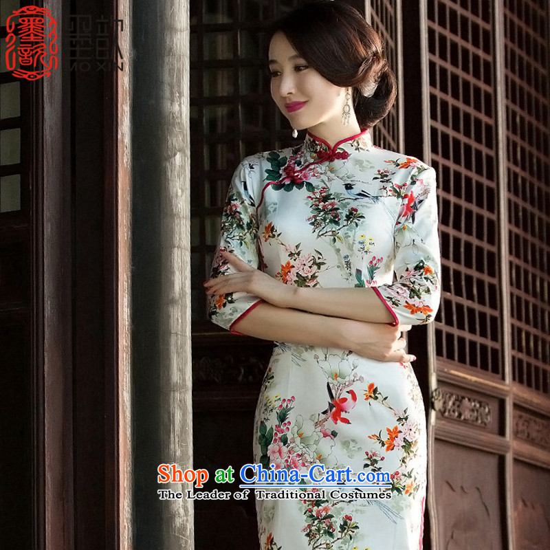 The Cayman?2015 retro � Pik improved cheongsam with new paragraph 7 Choo-sleeved qipao daily fashion of the Sau San Ms. cheongsam dress?SZ3G012?picture color-?M