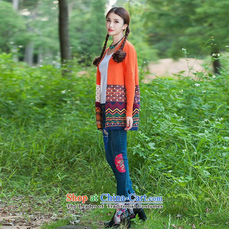 Ms Rebecca Pun stylish shops fall jackets retro jacquard large long-sleeved shirt, long, knitting cardigan female orange聽XL Photo, prices, brand platters! The elections are supplied in the national character of distribution, so action, buy now enjoy more preferential! As soon as possible.