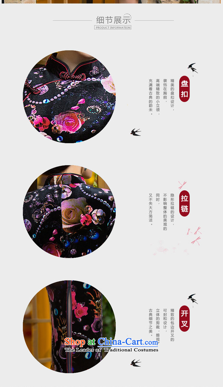 It聽's new 2015 Chinese cheongsam dress retro improved Mock-neck scouring pads Sau San 7 cuff dresses figure color聽M brand, prices, picture platters! The elections are supplied in the national character of distribution, so action, buy now enjoy more preferential! As soon as possible.