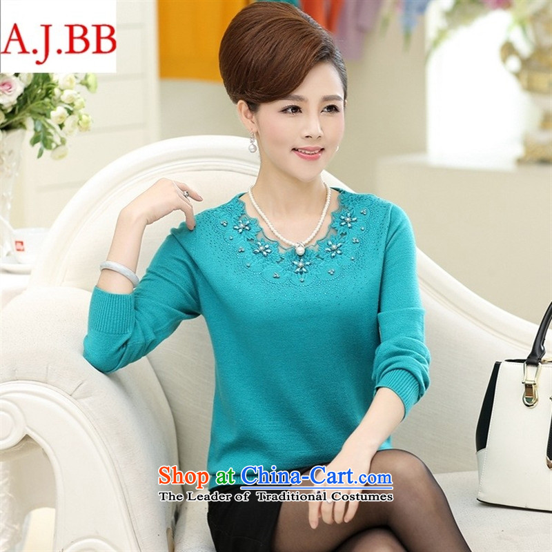 September clothes shops _ autumn and winter new women's Shirt ironing Korean drill knitting sweater in forming the largest number of elderly mother replacing Woolen Sweater Knit and color聽120