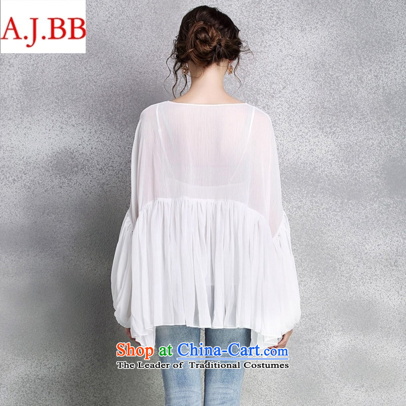 September clothes shops *2015 early autumn female new clothes for larger women loose V-Neck lanterns cuff large forming the Netherlands Red XL,A.J.BB,,, shopping on the Internet
