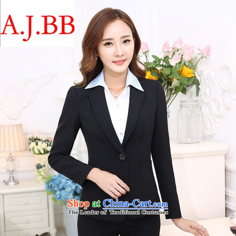 September clothes shops _ autumn and winter OL suit female professional attire kit skirt kit workwear interview is 2015 hotel floor reception uniform black燲XSTOXL_