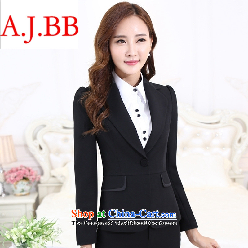 September clothes shops * autumn and winter 2015 new women's career women's clothes are decorated in OL trousers is loaded bank hotel interview pack Black?XXSTOXL)
