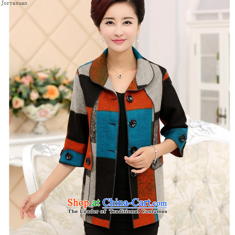 Web soft clothes 2015 Fall_Winter Collections in the new elderly mother in the Cuff gross? middle-aged female jacket jacket coat red XXL