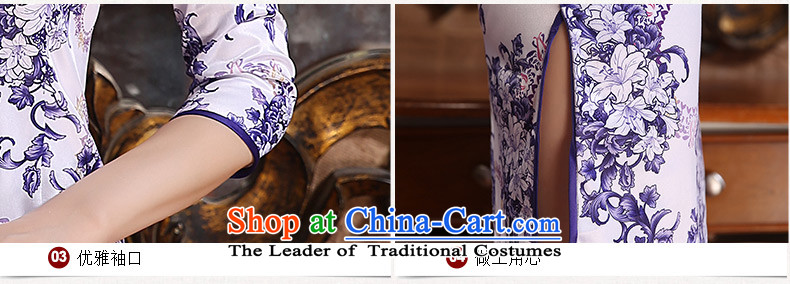 The Magic Park New 歆 cheongsam dress autumn replacing Ms. China wind porcelain qipao retro style qipao improved dresses ZA3G06 picture color pictures, prices, XXL brand platters! The elections are supplied in the national character of distribution, so action, buy now enjoy more preferential! As soon as possible.