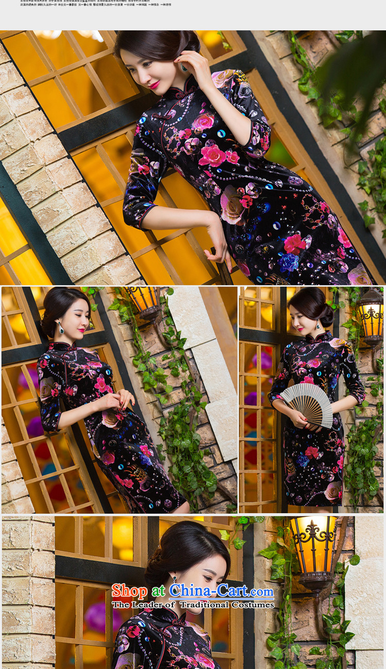Dan聽2015 Women's new smoke of Chinese cheongsam dress retro improved Mock-neck scouring pads Sau San 7 cuff dresses Figure Color聽S picture, prices, brand platters! The elections are supplied in the national character of distribution, so action, buy now enjoy more preferential! As soon as possible.