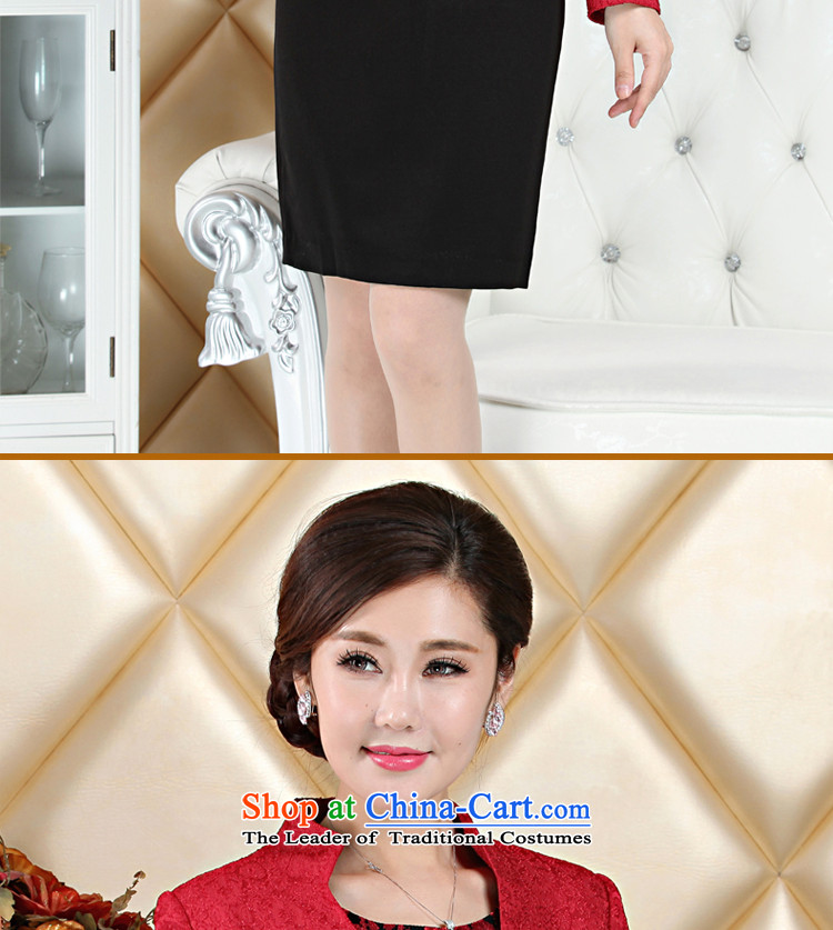 High Middle-aged mother wedding dress boxed kit wedding wedding large long-sleeved dresses with her mother-in autumn 2015 Red聽4XL Photo, prices, brand platters! The elections are supplied in the national character of distribution, so action, buy now enjoy more preferential! As soon as possible.
