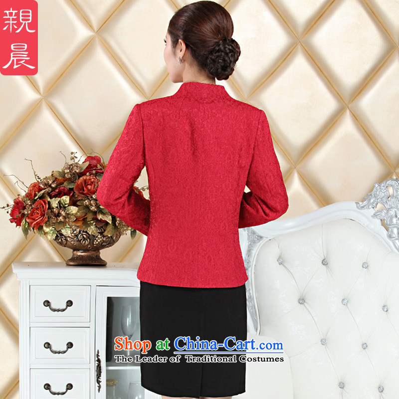 High Middle-aged mother wedding dress boxed kit wedding wedding large long-sleeved dresses with her mother-in autumn 2015 Red聽4XL, pro-am , , , shopping on the Internet